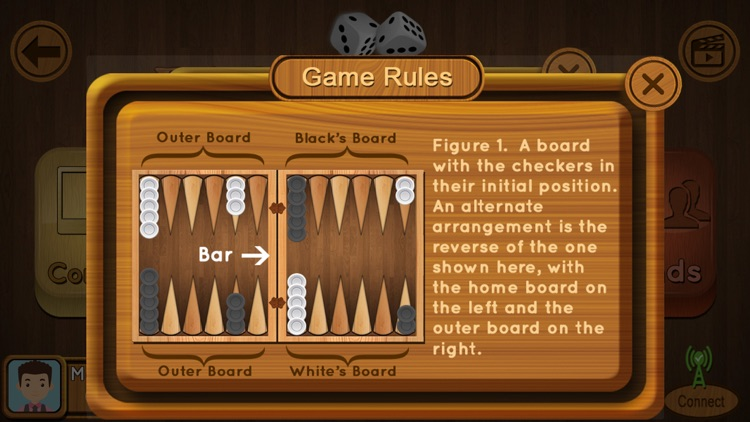Backgammon : Multiplayer Game screenshot-2