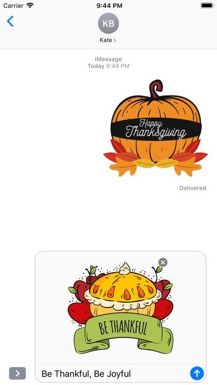 Happy Thanksgiving Day Sticker screenshot-4