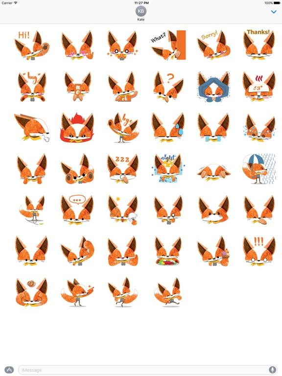 Adorable Fox FoxMoji Sticker screenshot 4