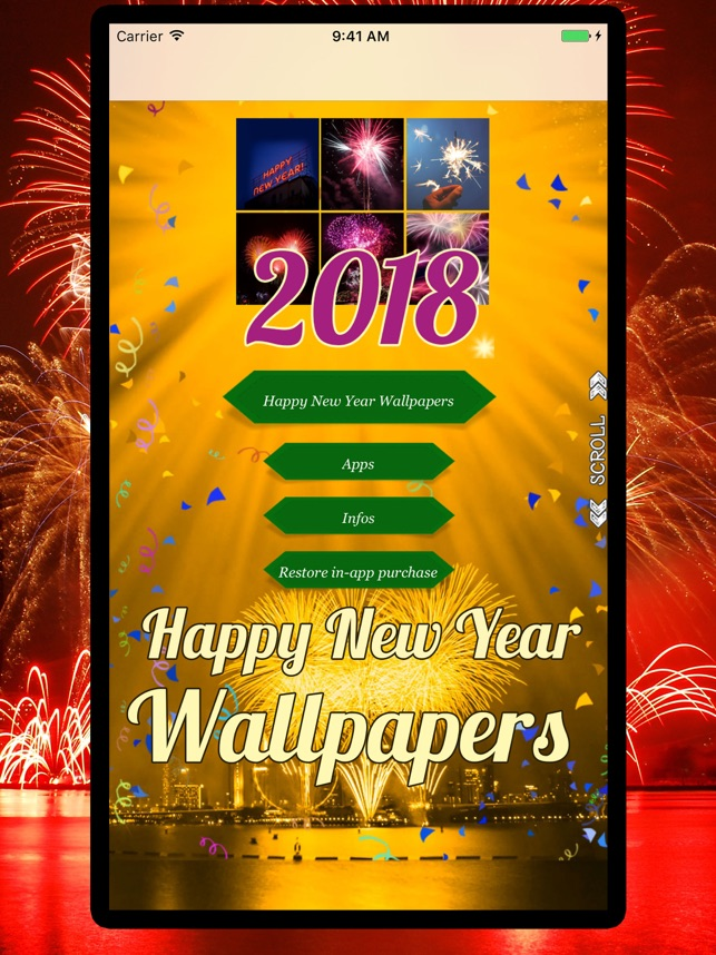 2018 happy new year wallpapers on the app store