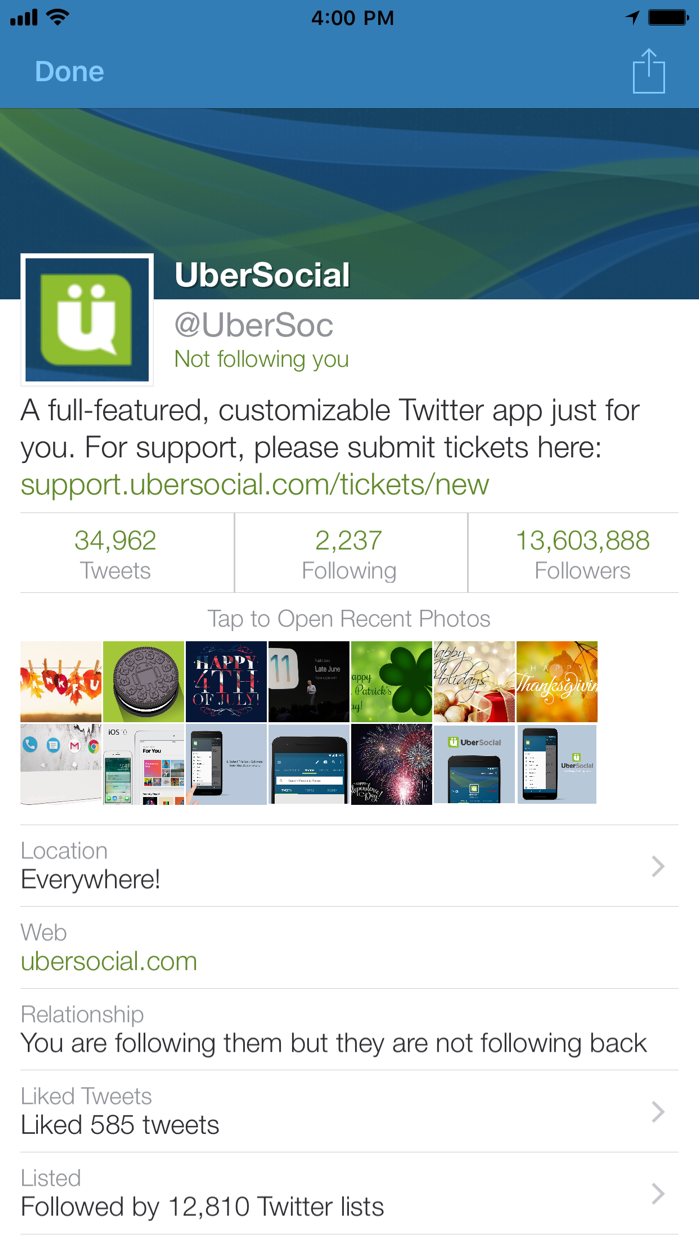 UberSocial Pro for iPhone Screenshot