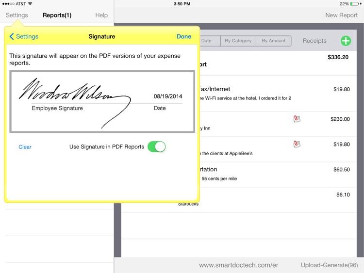 SmartDoc Expense Report screenshot-4