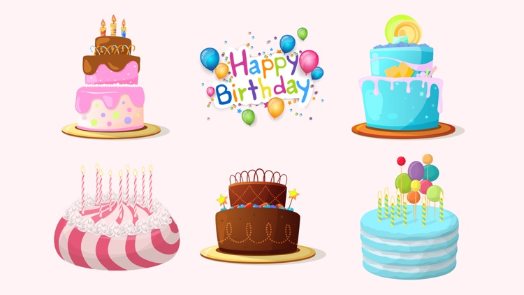 3d Happy Birthday Cake Sticker By Salma Akter