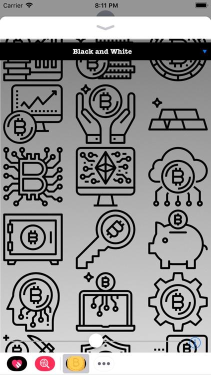 Bitcoin Stickers HODL screenshot-3