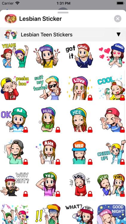 Lesbian Sticker screenshot-4