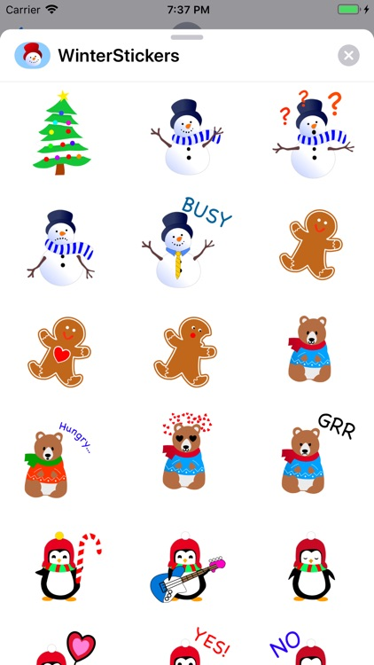 Stickers for Winter