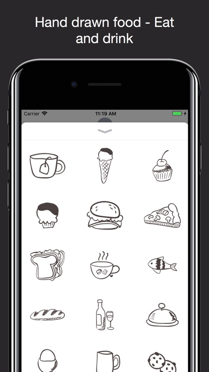 Hand drawn food: Eat and Drink