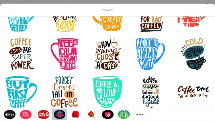 Coffee Moji Quotes Sticker App