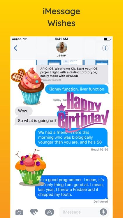Best Happy Birthday Stickers screenshot-3