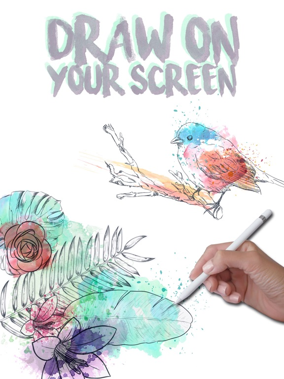 Doodle on the screen – color and draw on pictures-ipad-0
