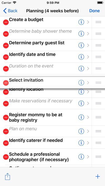 Baby Shower Checklist Pro screenshot-3