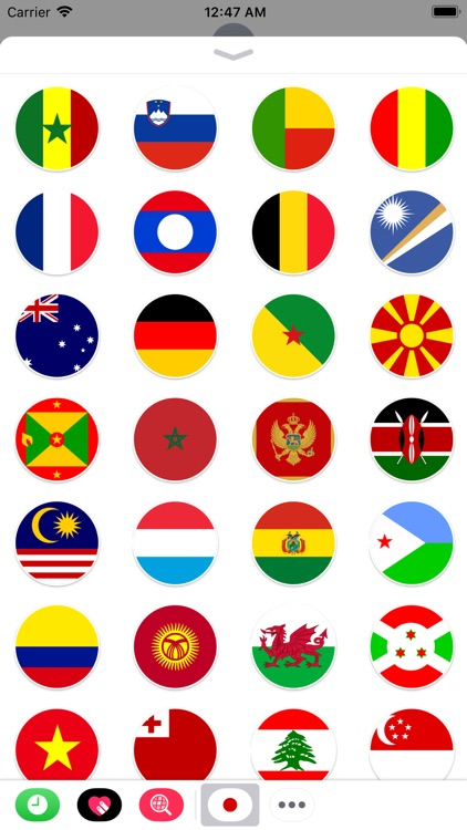 Round Flags