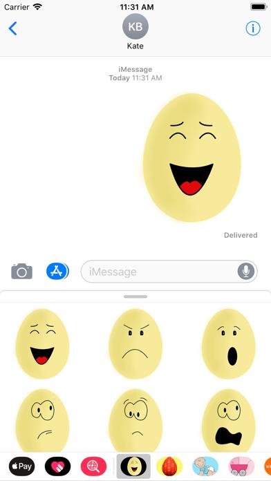 Yellow Egg Face Sticker Pack screenshot one