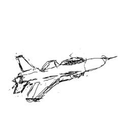 Crazy Jet Fighter Doodle