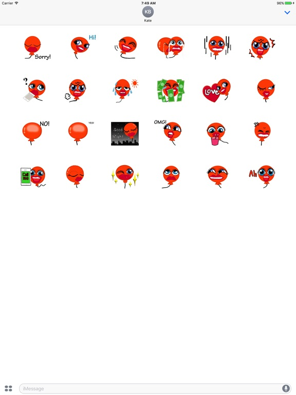 Animated Orange Balloon Emoji screenshot 3