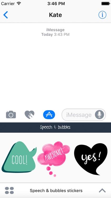 Speech and bubbles Sticker (comic dialogue)