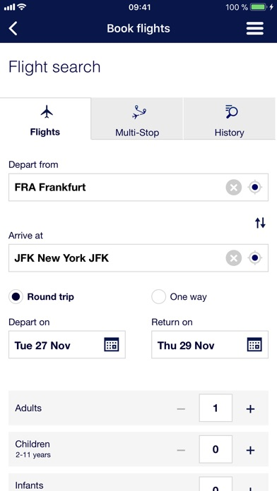 Lufthansa review screenshots