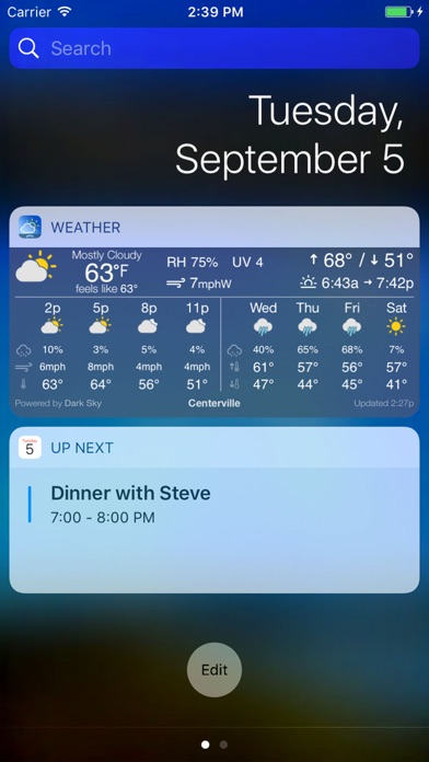 Simple Weather Widget Screenshot