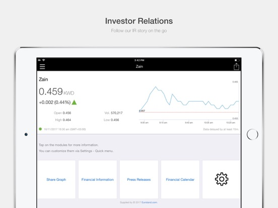 Zain Group Investor Relations-ipad-0