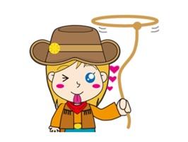 Cute Cowgirl Sticker