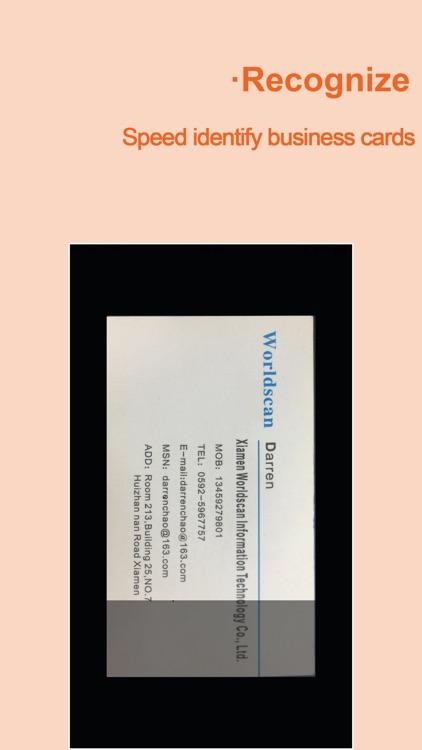 WeCard-business card scanner screenshot-4