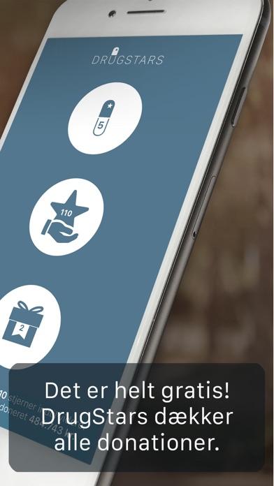 Screenshot for DrugStars: Husk medicin & Støt in Denmark App Store
