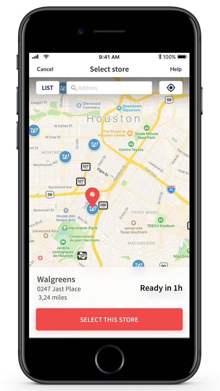 Photo print: 1hr store pickup Screenshot