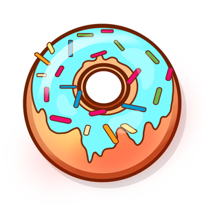 Colorful cute donuts app