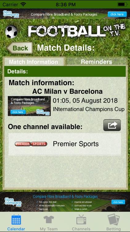 Football on the TV Lite