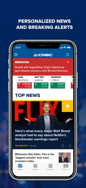 cnbc breaking business news on the app store