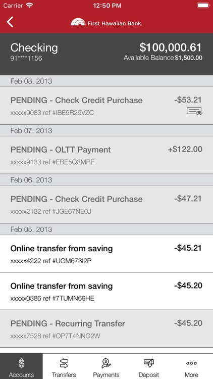 First Hawaiian Bank Mobile screenshot-3