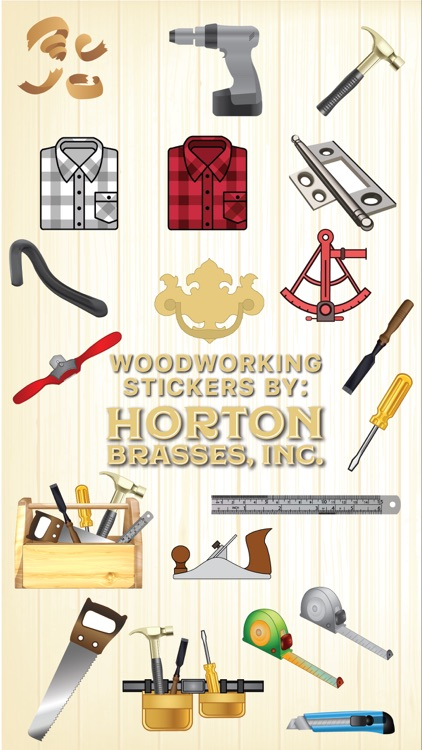 Woodworking stickers by Horton
