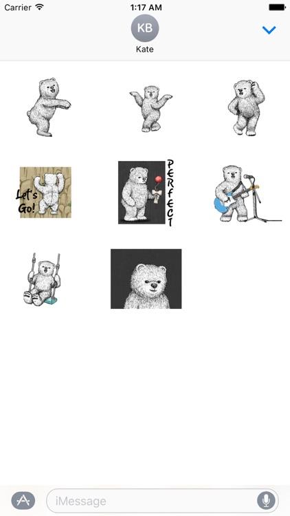 Animated Happy Bear Stickers