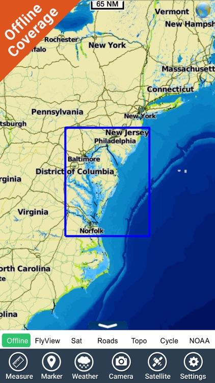 Virginia - New Jersey HD chart screenshot-4