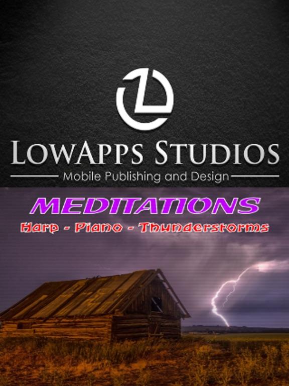 Meditations:Harp Piano Thunder screenshot 6