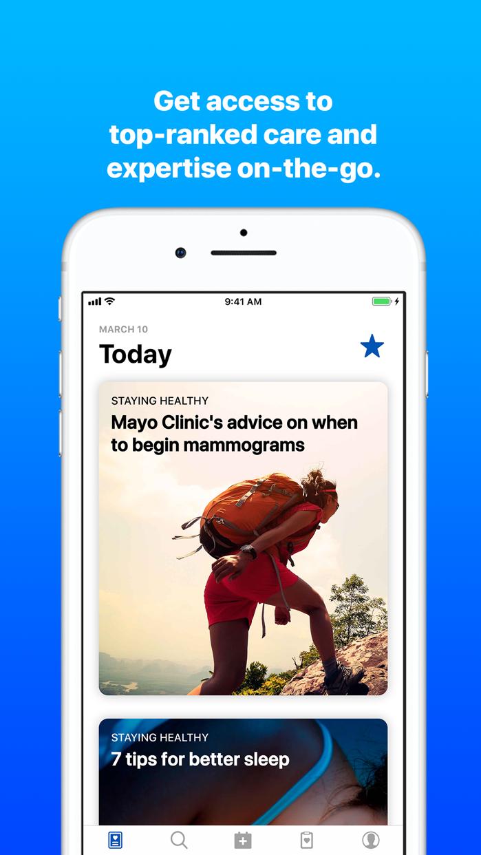 Mayo Clinic Screenshot