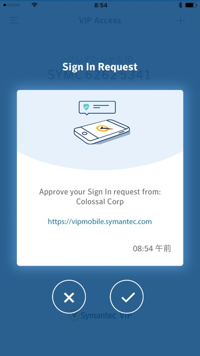 VIP Access for iPhone ScreenShot1