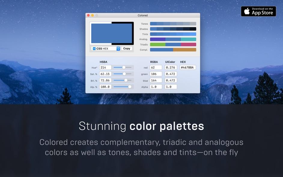 Colored for Mac 1.2.2 破解版 – 调色板工具-爱情守望者