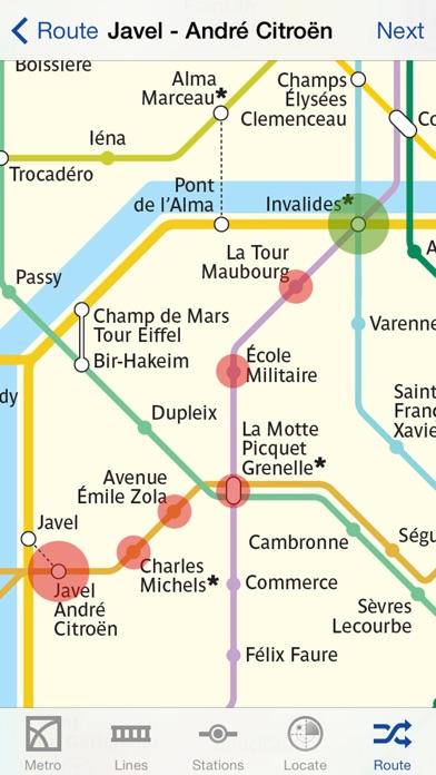 Metro Paris Map and Routes screenshot 1