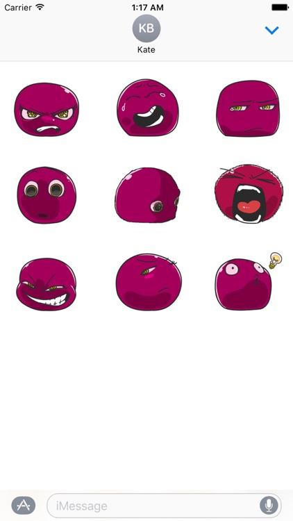 Animated Violet Emoji Sticker