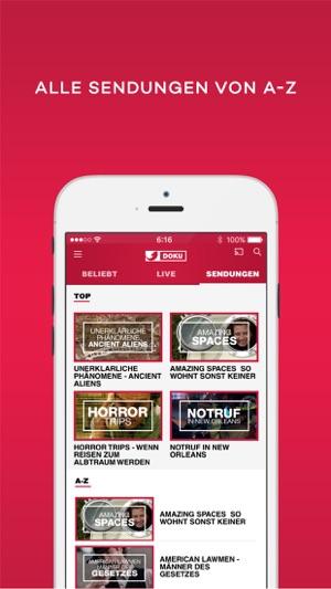 Kabel eins doku tv mediathek im app store for Mediathek spiegel tv