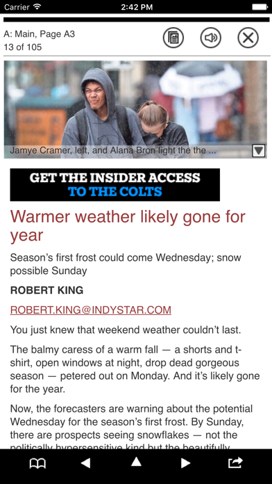 The Indianapolis Star Print Screenshot