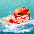 nadar atravessando a corrida de barcos: a marina kids center jogo - edição gratuita icon