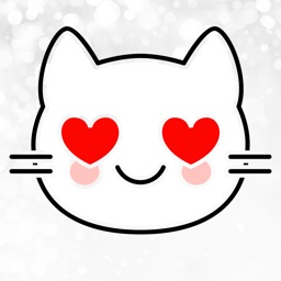 White Cat Stickers-CatMoji