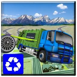 Flying Garbage Truck Simulator 2017