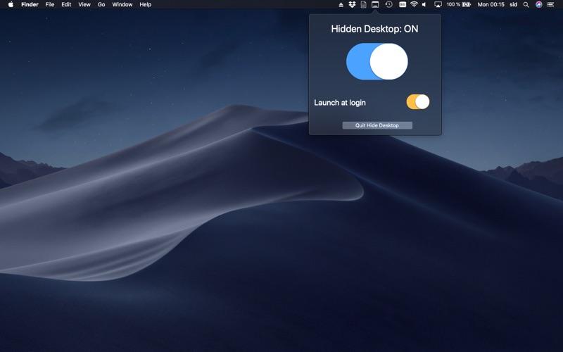 Hide Desktop for Mac
