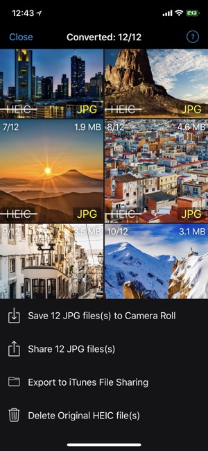 Heic Converter 2 JPG, PNG Screenshot