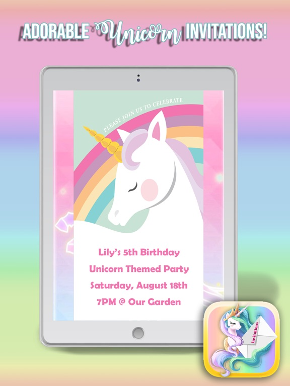 Telecharger Licorne Carte D Invitation App Pour Iphone Ipad Sur L
