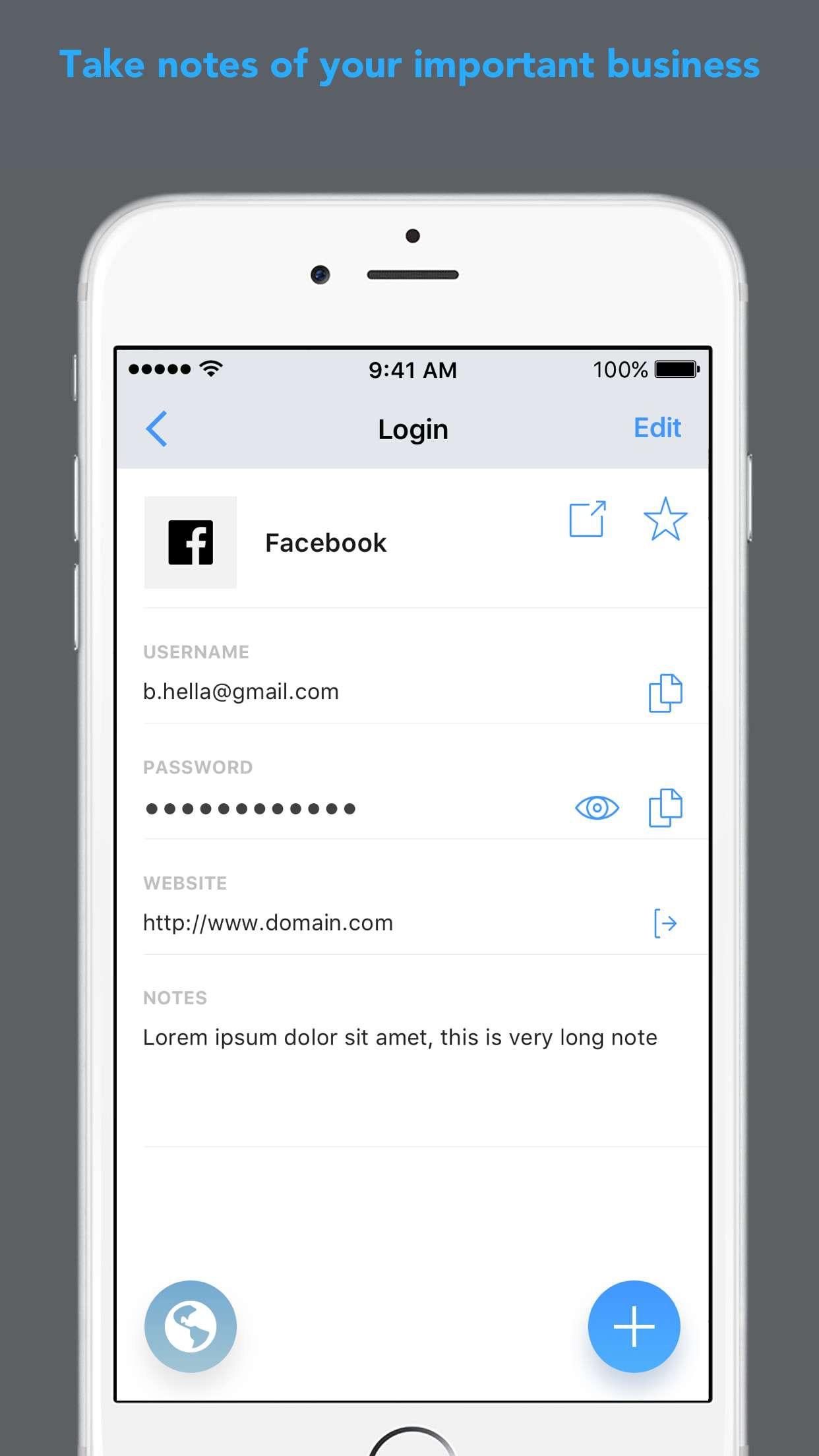 Password Secure Manager App Screenshot