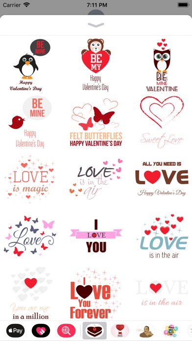 Love Message - Flat Stickers screenshot 3